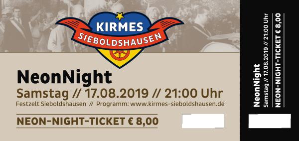 Ticket NeonNight Kirmes 2019