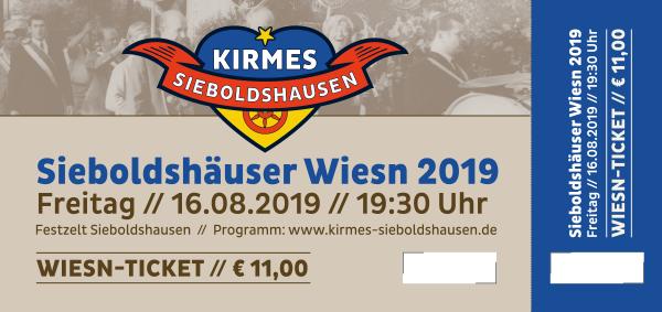 Ticket Sieboldshäuser Wiesn 2019